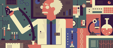 Scientist in laboratory background Royalty Free Stock Photography