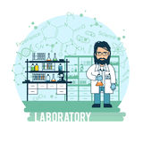 Scientist in laboratory experiments were conducted Royalty Free Stock Photography