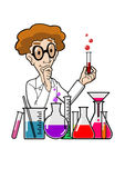 Scientist in laboratory vector illustration