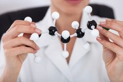 Scientist Looking At Molecular Structure Stock Images