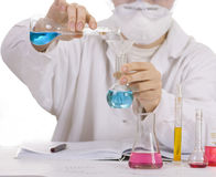 Scientist making tests Stock Photo