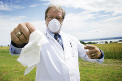 Scientist with mask Stock Photo