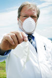 Scientist with mask Royalty Free Stock Images