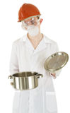 Scientist with pan Royalty Free Stock Photography