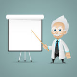 Scientist points on flipchart Stock Photography