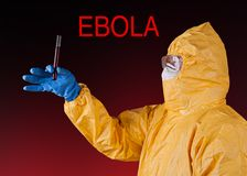 Scientist with protective suit, ebola concept. Stock Photos