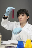 Scientist research experiment Stock Image