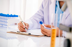 Scientist in research lab Stock Images