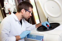 Scientist research in a lab environment Stock Photography