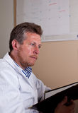Scientist researches test results Stock Photography