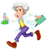 A scientist running hurriedly Stock Photography