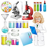 Scientist with science equipment Royalty Free Stock Photos