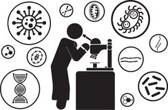 Scientist. And scientific experiments icon Royalty Free Stock Photos