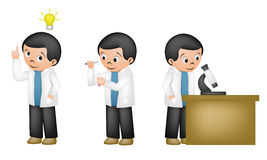 Scientist. Scientis activity in his lab Stock Image