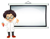 Scientist and screen Stock Photos
