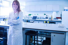 Scientist smiling at the camera in lab Royalty Free Stock Images