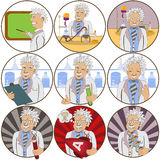 Scientist stickers Stock Photo