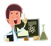 Scientist teaching the science  illustration cartoon character. Enjoy Stock Photo