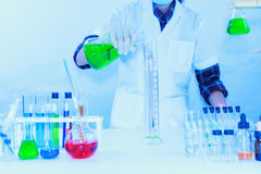 The scientist test or science research,science concept. Science education,science background ,science experiments and selective focus Stock Photography