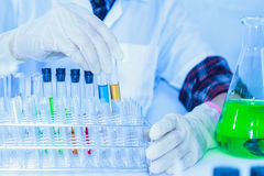 The scientist test or science research,science concept,science e Stock Photos