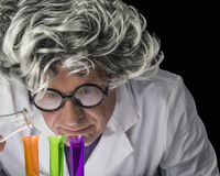 Scientist and Test Tubes Stock Image