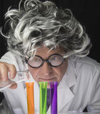 Scientist and Test Tubes Stock Photos