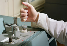 Scientist Testing Measurements Royalty Free Stock Image