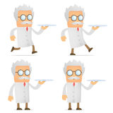 Scientist with a tray Royalty Free Stock Photography