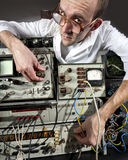Scientist at vintage laboratory Royalty Free Stock Photography