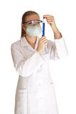 Scientist woman Stock Image