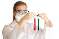Scientist woman Royalty Free Stock Photo