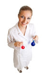 Scientist woman Stock Image