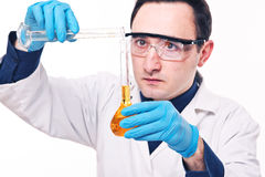 Scientist at work Stock Images
