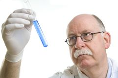 Scientist working with chemicals Stock Photos