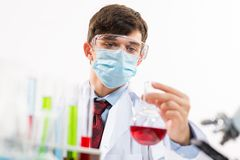 Scientist working in the lab Stock Photography