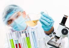 Scientist working in the lab Royalty Free Stock Photos