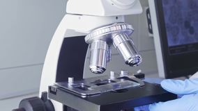 Scientist working in lab. Doctor making microbiology research. Biotechnology, chemistry, bacteriology, virology, dna and