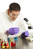 Scientist Working in Laboratory Royalty Free Stock Images