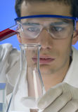 Scientist working in a laboratory Stock Photo