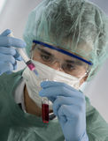 Scientist working in laboratory Stock Image