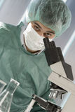 Scientist working in laboratory Stock Images