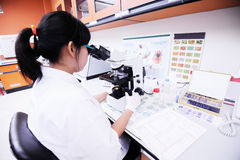 Scientist working at laboratory Stock Images