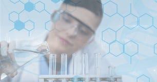 Scientist working on the laboratory stock illustration