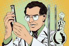 Scientist working at the laboratory. Stock illustration. People Stock Images