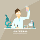 Scientist Working Research Chemical Laboratory Stock Image