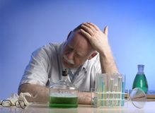 Scientist working witch chemicals Royalty Free Stock Image