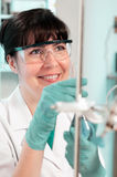 Scientist works in the lab. Scientist works in biological or medical laboratory Royalty Free Stock Images