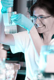 Scientist works in the lab royalty free stock image