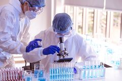 Free Scientists And Researcher Doing Research For Finding Coronavirus, Covid-19 Vaccine Disease Stock Photo - 185886970