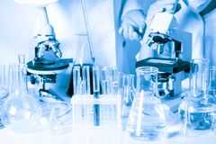 Scientists in the chemical Royalty Free Stock Photography